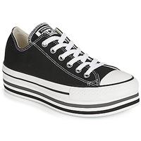 鞋子 女士 球鞋基本款 Converse 匡威 CHUCK TAYLOR ALL STAR PLATFORM EVA LAYER CANVAS OX 黑色