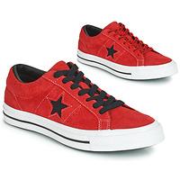 鞋子 球鞋基本款 Converse 匡威 ONE STAR DARK STAR VINTAGE SUEDE OX 红色