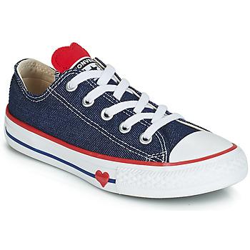 鞋子 女孩 球鞋基本款 Converse 匡威 CHUCK TAYLOR ALL STAR SUCKER FOR LOVE DENIM OX 藍色