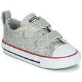 鞋子 女孩 球鞋基本款 Converse 匡威 CHUCK TAYLOR ALL STAR 2V SPARKLE SYNTHETIC OX 灰色