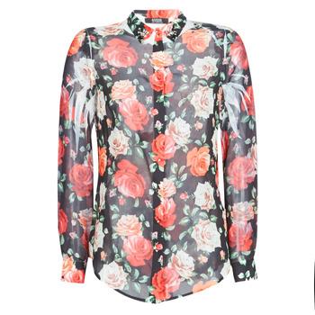 衣服 女士 衬衣/长袖衬衫 Guess CLOUIS 黑色 / 多彩