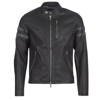 衣服 男士 皮夹克/ 人造皮革夹克 Guess COOL BIKER 黑色