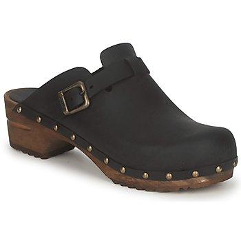 鞋子 女士 洞洞鞋/圆头拖鞋 Sanita KRISTEL OPEN 黑色