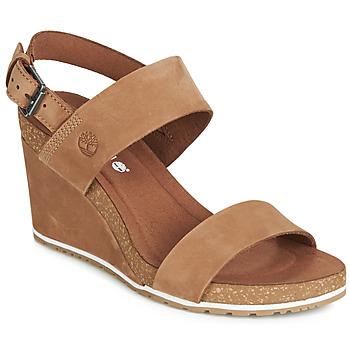 鞋子 女士 凉鞋 Timberland 添柏岚 CAPRI SUNSET WEDGE 棕色