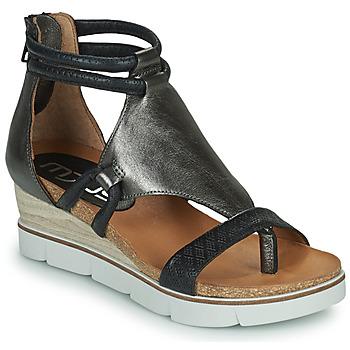 鞋子 女士 凉鞋 Mjus TAPASITA 黑色 / 银灰色
