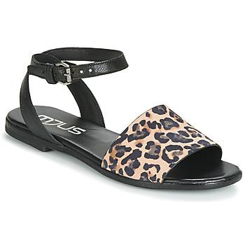 鞋子 女士 凉鞋 Mjus CHAT LEO 黑色 / Leopard