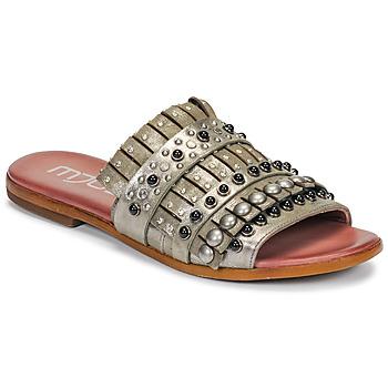 鞋子 女士 休闲凉拖/沙滩鞋 Mjus CHAT MULE 卡其色 / 金属银