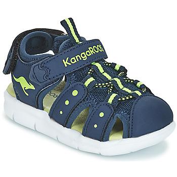 鞋子 男孩 凉鞋 Kangaroos K-MINI 海蓝色 / 黄色