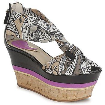 鞋子 女士 凉鞋 Etro 艾特罗 3467 灰色 / 黑色 / 紫罗兰