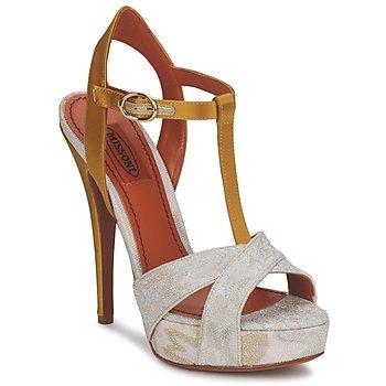 鞋子 女士 凉鞋 Missoni TM30 金色 / 银灰色