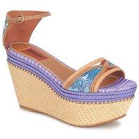 鞋子 女士 凉鞋 Missoni TM26 蓝色 / 棕色