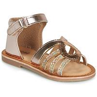 鞋子 女孩 凉鞋 André LEÏA 金色