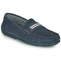 鞋子 男孩 皮便鞋 André ROMARIN 海蓝色