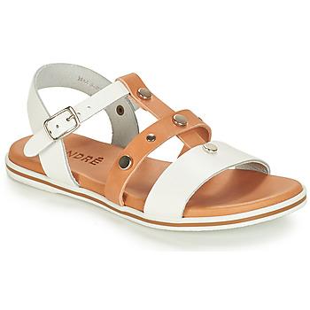 鞋子 男孩 凉鞋 André MILAN 白色 / 驼色