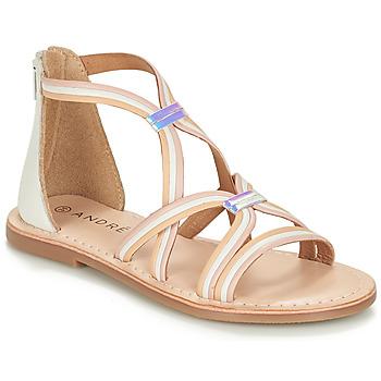 鞋子 女孩 凉鞋 André MELODIE 白色