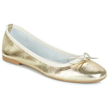 鞋子 女士 平底鞋 André PIETRA 金色