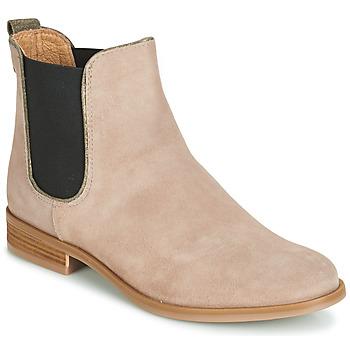 鞋子 女士 短筒靴 André RIDER 米色