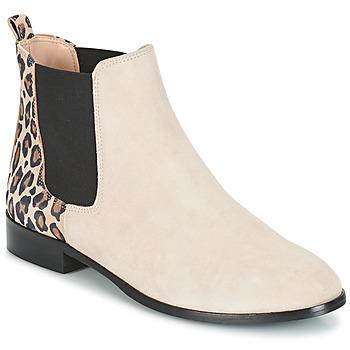 鞋子 女士 短筒靴 André CHAMANE 米色