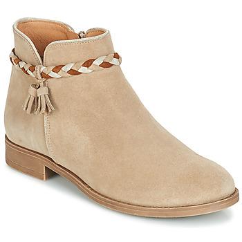 鞋子 女士 短筒靴 André RAVIE 米色