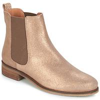 鞋子 女士 短筒靴 André CHATELAIN 金色