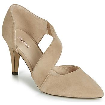 鞋子 女士 高跟鞋 André SOIE 米色