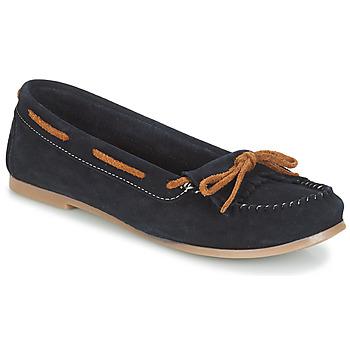 鞋子 女士 皮便鞋 André REE 蓝色