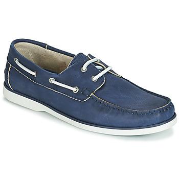 鞋子 男士 船鞋 André PORT CROS 海藍色