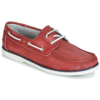 鞋子 男士 船鞋 André PORT CROS 红色