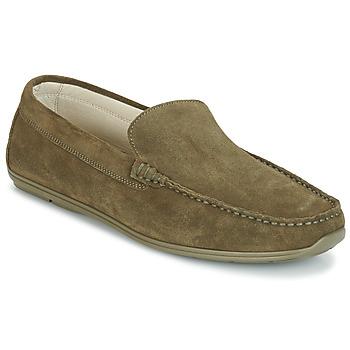鞋子 男士 皮便鞋 André BIGOLO 卡其色