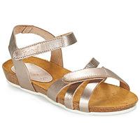 鞋子 女孩 涼鞋 Kickers BOGART 古銅色 / 金屬銀