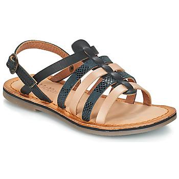 鞋子 女孩 凉鞋 Kickers DIXON 黑色 / 蛇纹