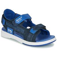 鞋子 男孩 凉鞋 Kickers PLANE 海蓝色