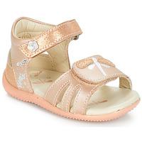 鞋子 女孩 凉鞋 Kickers BESHINE 玫瑰色 / 金属银