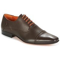 鞋子 男士 系带短筒靴 Carlington 卡尔顿 RIOCHI 棕色