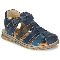 鞋子 男孩 凉鞋 Citrouille et Compagnie ZIDOU 海蓝色 / 灰色