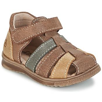 鞋子 男孩 凉鞋 Citrouille et Compagnie FRINOUI 棕色 / 多彩