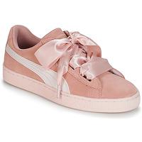 鞋子 女孩 球鞋基本款 Puma 彪马 JR SUEDE HEART JEWEL.PEACH 玫瑰色