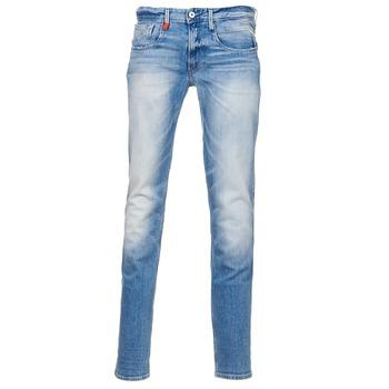 衣服 男士 紧身牛仔裤 Replay ANBAS 蓝色 / 米色