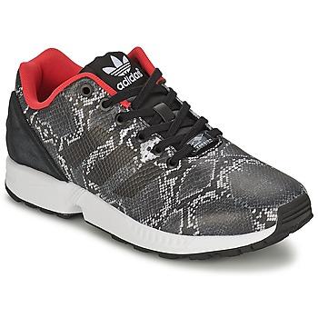 鞋子 女士 球鞋基本款 阿迪达斯三叶草 ZX FLUX W 灰色