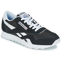 鞋子 男士 球鞋基本款 Reebok Classic CL NYLON 黑色 / 白色