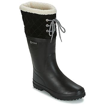 鞋子 女士 雨靴 Aigle POLKA GIBOULEE 黑色