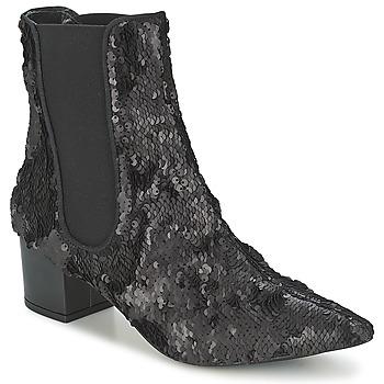 鞋子 女士 短筒靴 RAS ANAHI 黑色