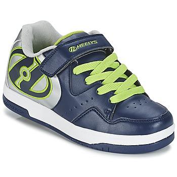 鞋子 男孩 轮滑鞋 Heelys HYPER 海蓝色 / 银色 / 绿色