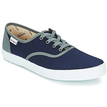 鞋子 球鞋基本款 Victoria 维多利亚 INGLESA LONA DETALL CONTRAS 海蓝色