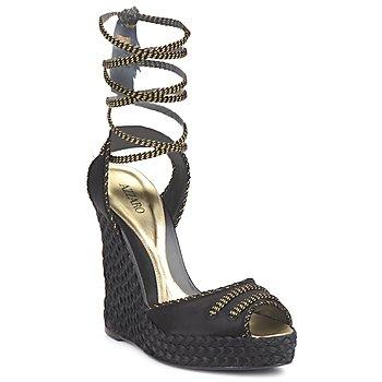 鞋子 女士 凉鞋 Azzaro 阿莎露 LUGGANO 黑色