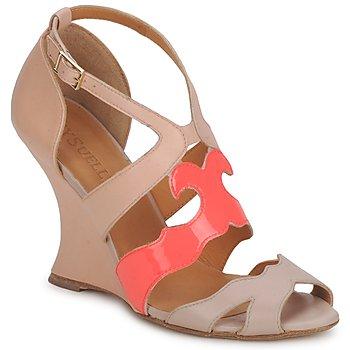 鞋子 女士 凉鞋 MySuelly PAULINE 灰褐色 / 石榴红