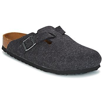 鞋子 洞洞鞋/圓頭拖鞋 Birkenstock 勃肯 BOSTON 灰色