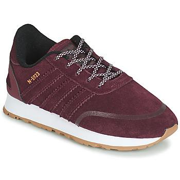 鞋子 儿童 球鞋基本款 Adidas Originals 阿迪达斯三叶草 N-5923 C 波尔多红