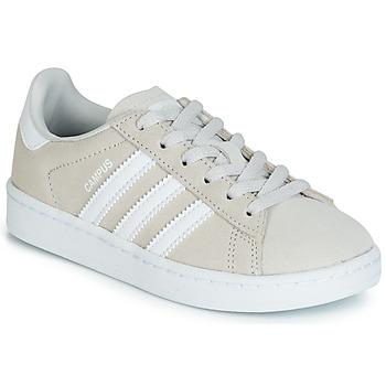 鞋子 儿童 球鞋基本款 Adidas Originals 阿迪达斯三叶草 CAMPUS C 灰色