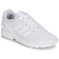 鞋子 男孩 球鞋基本款 Adidas Originals 阿迪達斯三葉草 ZX FLUX J 白色